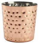 Copper Plated Stainless Steel Hammered Effect Serving Cup 40cl/14.1oz (8.5cm H x 8.5cm Dia)