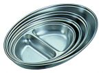 Stainless Steel Oval Serving Dish Two Division 200mm