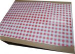 Red Gingham Duplex Paper