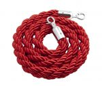 Genware Red Barrier Rope With Chrome Fixings