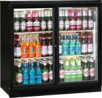 Blizzard BAR2 Black Double Hinged Door Bottle Cooler