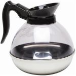 Coffee Decanter Clear Top/Stainless Steel Base 1.9L/64oz