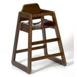 Wooden High Chair Dark Wood (Walnut)
