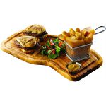 Olive Wood Serving Board With Groove 40cm x 21cm