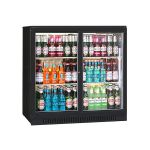 Blizzard BAR2/SL Black Double Sliding Door Bottle Cooler