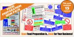 Food Preparation Pack (15 Signs)