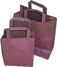 Small Brown Paper Carriers