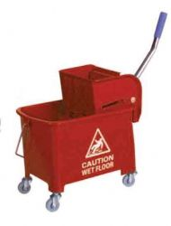 Red 20ltr Mop Bucket With Wringer