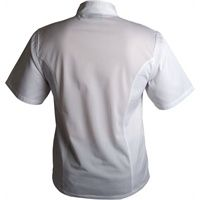 Economy Coolback Short Sleeve Press Stud Button Chef Jacket