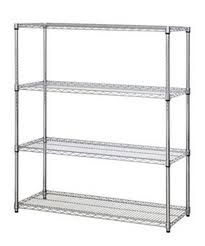 Chrome 4 tier shelving unit 800mm wide x 300mm deep joynsons for 300mm deep kitchen units