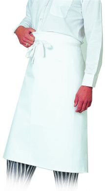 Dennys White Cotton Waist Apron