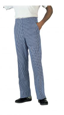 Dennys Unisex Blue/White Small Check Trousers