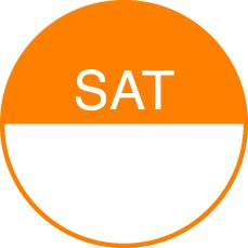 Round Day Dot Labels Saturday (Orange)