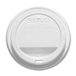 White Plastic Lid For 10 oz Hot Paper Cup