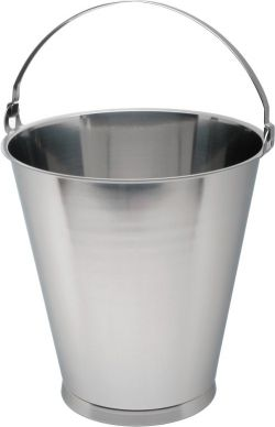 15 ltr Skirted Stainless Steel Bucket