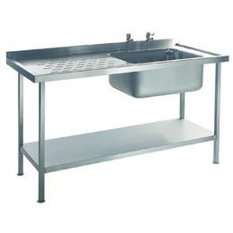 Single Bowl Single Left Drainer (1000mm x 600mm x 875mm)