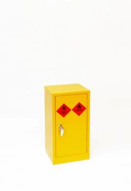 Mini Yellow Hazardous Substance Cabinet 710mm H x 355mm W x 305mm D
