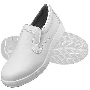 Dennys White Slip On Safety Shoe