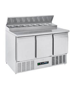 Blizzard BCC3EN-ECO Compact 3 Door Refrigerated Counter With Topper