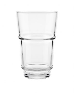 Genware Rocky Stack Stackable Tumbler Glass 30cl (10.6oz) 121mm H x 77mm Dia (12 Pack)