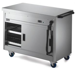 Lincat P6P3 Mobile Hot Cupboard With Plain Top (Standard) 1125mm Wide x 670mm Deep x 900mm High