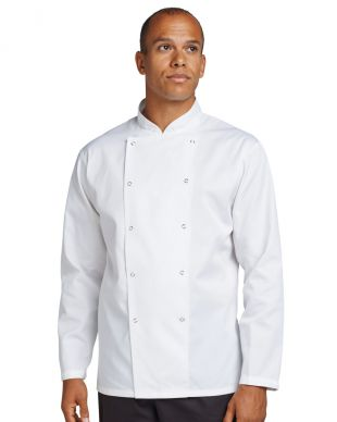 Dennys Budget White Long Sleeve Chef Jacket