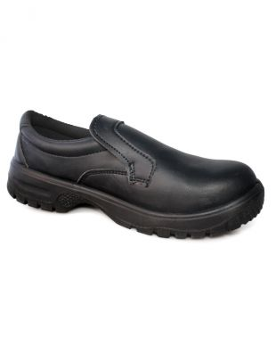 Dennys Black Slip On Safety Shoe