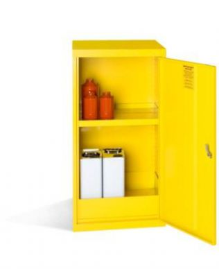 Yellow Hazardous Substance Cabinet 910mm H x 457mm W x 457mm D