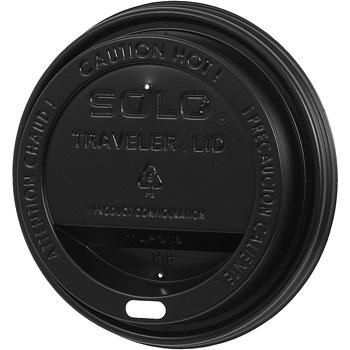 Black Plastic Lid For 12 oz Hot Paper Cup