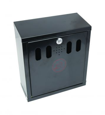 Black Wall Mounted Outdoor Ashtray