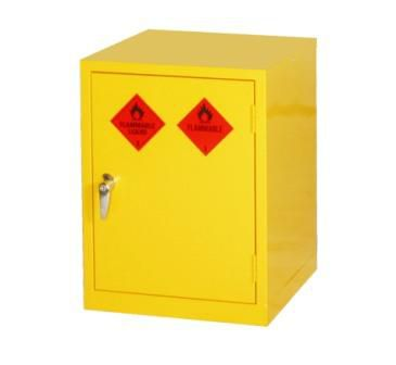 Mini Yellow Hazardous Substance Cabinet 610mm H x 457mm W x 457mm D