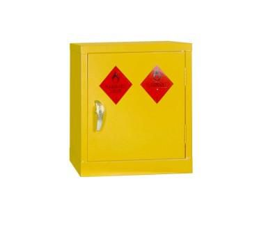 Mini Yellow Hazardous Substance Cabinet 457mm H x 457mm W x 305mm D