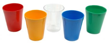 Harfield Polycarbonate 7oz (200ml) Fluted Tumblers (12 Pack)