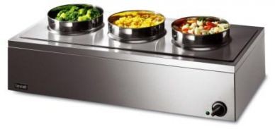 Lincat LRB3 Dry Well 3 Round Pot Bain Marie