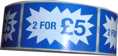 2 For £5.00 Labels