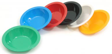 Harfield Polycarbonate Narrow Rim Coloured Bowls 17.3cm (12 Pack)