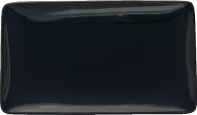 Simply Black Rectangular Plate 28 x 16cm (4 Pack)