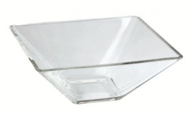 Genware Square Glass Bowl 8cm x 4.5cm High (12 Pack)