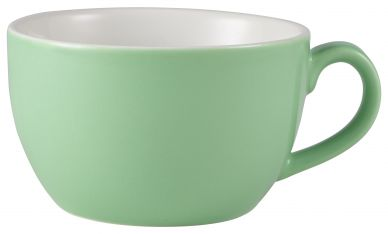 Royal Genware Green Bowl Shaped Cup 25cl (8.75oz) (6 Pack)