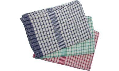 Terry Tea Towels Chequered