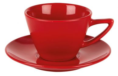 Simply Tableware Red Double Well Saucer (6 Pack)