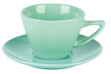 Simply Tableware Green Double Well Saucer (6 Pack)