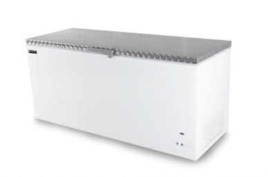 MIDAS 450 SS White Commercial Chest Freezer Stainless Steel Lid 1270mm Wide