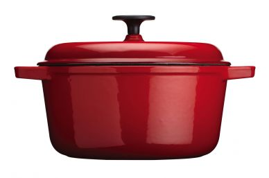 Master Class Red Cast Iron Round 5 Litre Casserole Dish