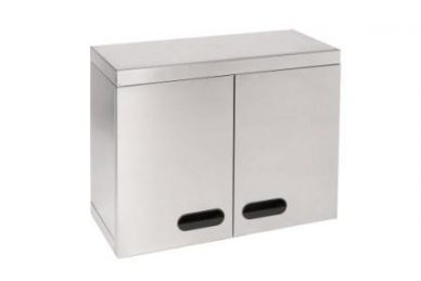 Stainless Steel Hinged Door Wall Cupboard (750mmx330x600)