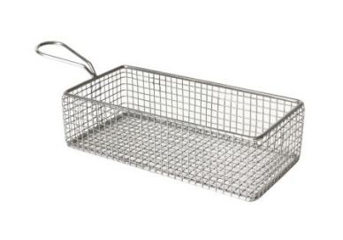 Stainless Steel Serving Basket 21.5cm x 10.5cm x 6cm