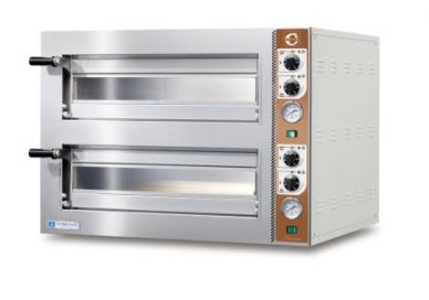 Cuppone Tiziano Large Twin Deck Electric Pizza Oven (8x12