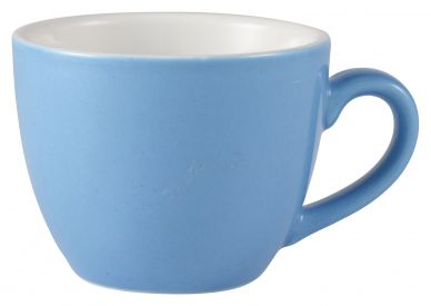Royal Genware Blue Bowl Shaped Cup 9cl (3oz) (6 Pack)