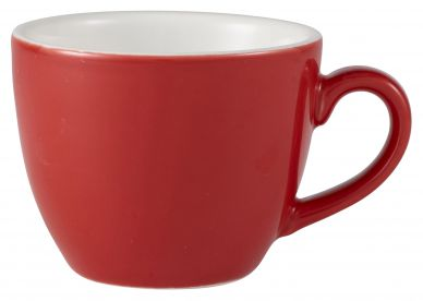 Royal Genware Red Bowl Shaped Cup 9cl (3oz) (6 Pack)