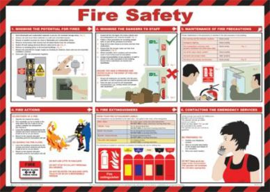 Fire Safety Chart (590 x 420mm)